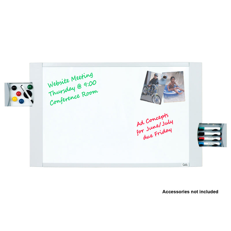 "Ultimate Office Convex Dry Erase Magnetic Whiteboard, 36"" x 24"" Curved Surface with Two Hidden Marker/Storage Drawers and Easy Mount Wall Hardware"