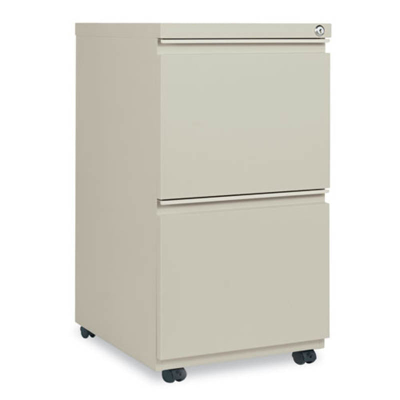 "2 File Drawer Mobile Pedestal with Full-Length Pulls, 19 1/8""d"