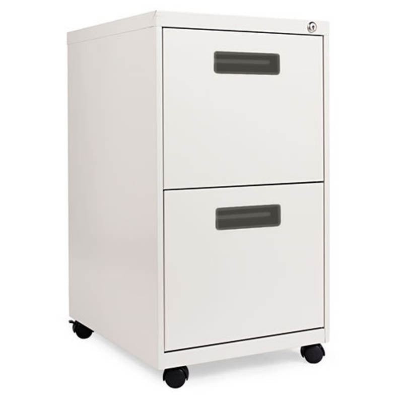 "2 File Drawer Mobile Pedestal with Recessed Pulls, 19 1/2""d"