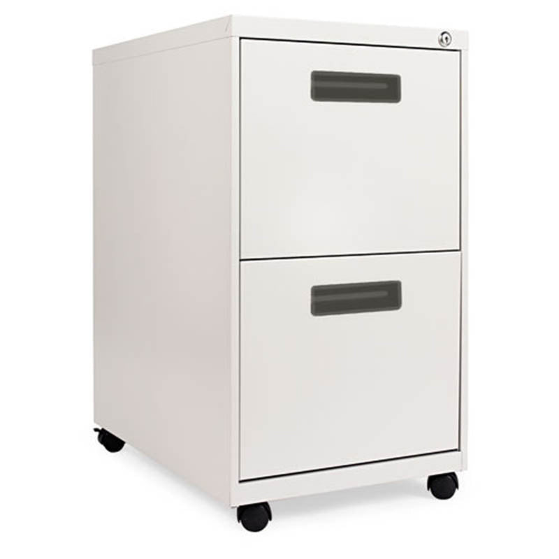 "2 File Drawer Mobile Pedestal with Recessed Pulls, 23 1/8""d"