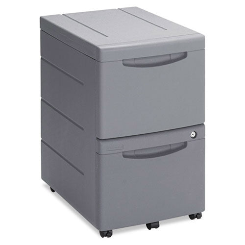 "2 File Drawer Polyethylene Mobile Pedestal File, 22""d"