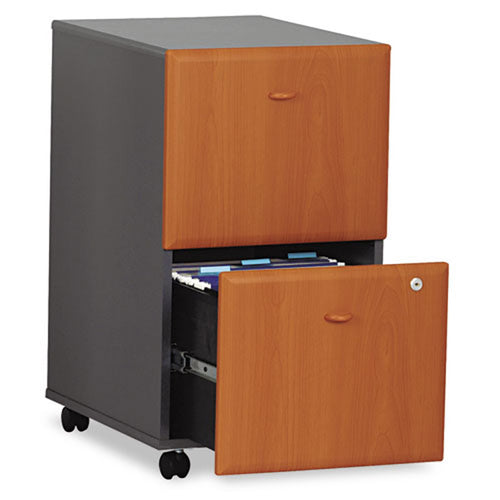 "2 File Drawer Wooden Mobile Pedestal File, 20 1/4""d"