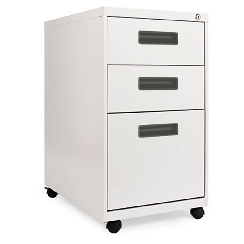 "2 Supply & 1 File Drawer Mobile Pedestal with Recessed Pulls, 23 1/8""d"