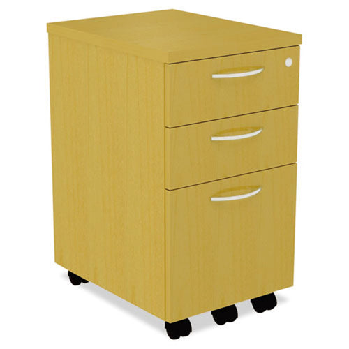 "2 Supply & 1 File Drawer Wooden Mobile Pedestal File, 20""d"