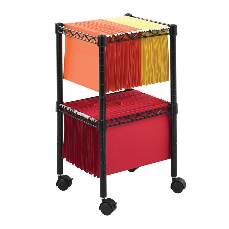 2-Tier Compact File Cart