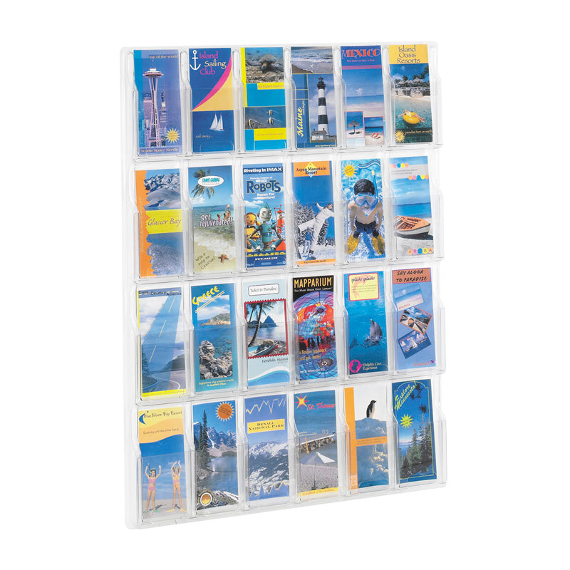 24 Pamphlet Display Clear