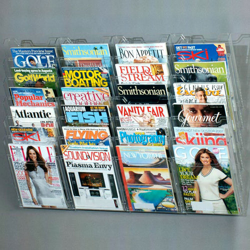 24-Pocket Magazine Display