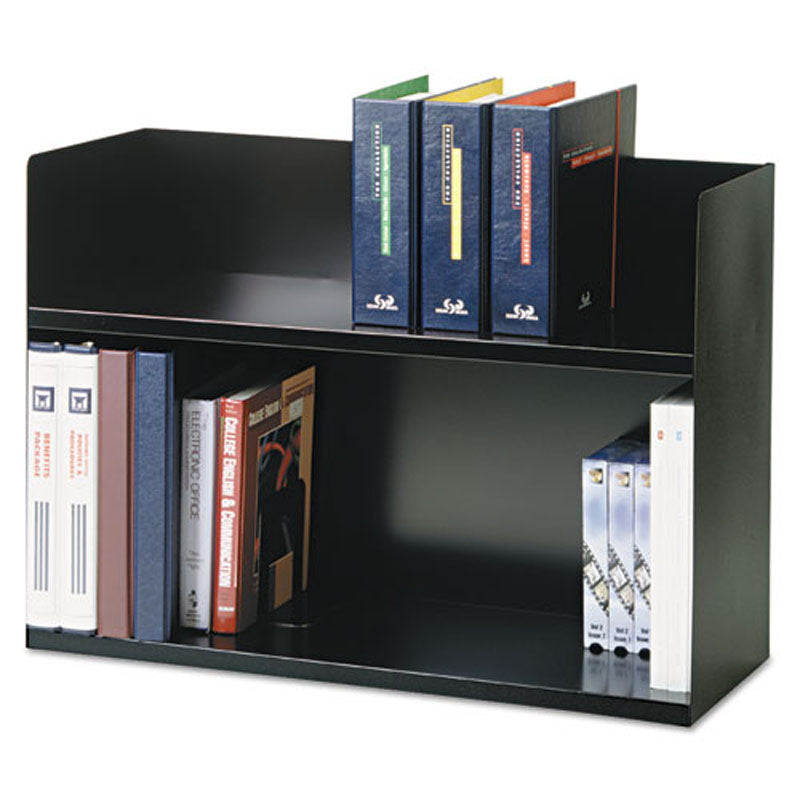 "29"" 2-Tier Steel Book Rack"