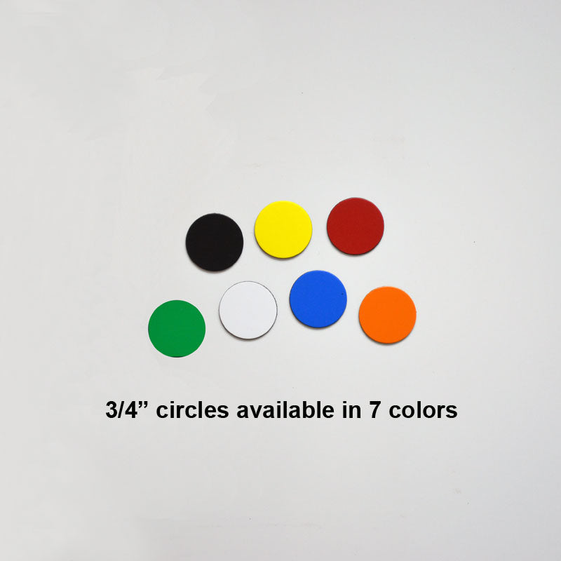 "3/4"" Circle Indicator Magnets (pack of 20)"
