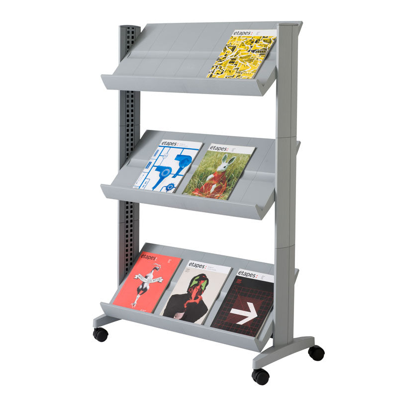 3-Shelf Mobile Literature Display