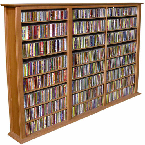 3-Wide Media Shelves