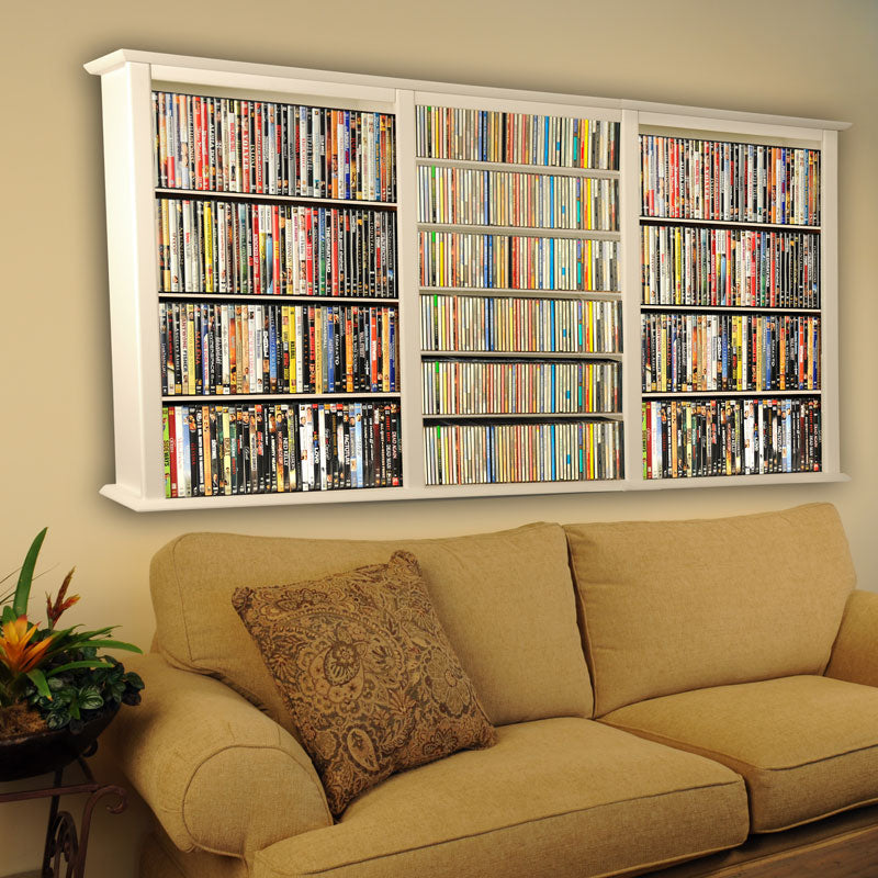 3-Wide Wall-Mount Media Cabinet