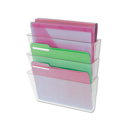 3-Pocket Wall File Starter Set, Letter, Clear