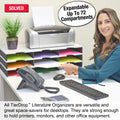 Ultimate Office TierDrop™ Desktop Organizer Document, Forms, Mail, and Classroom Sorter. 9 Letter Size Compartments with Optional Add-On Tiers for Easy Expansion - Lifetime Guarantee!