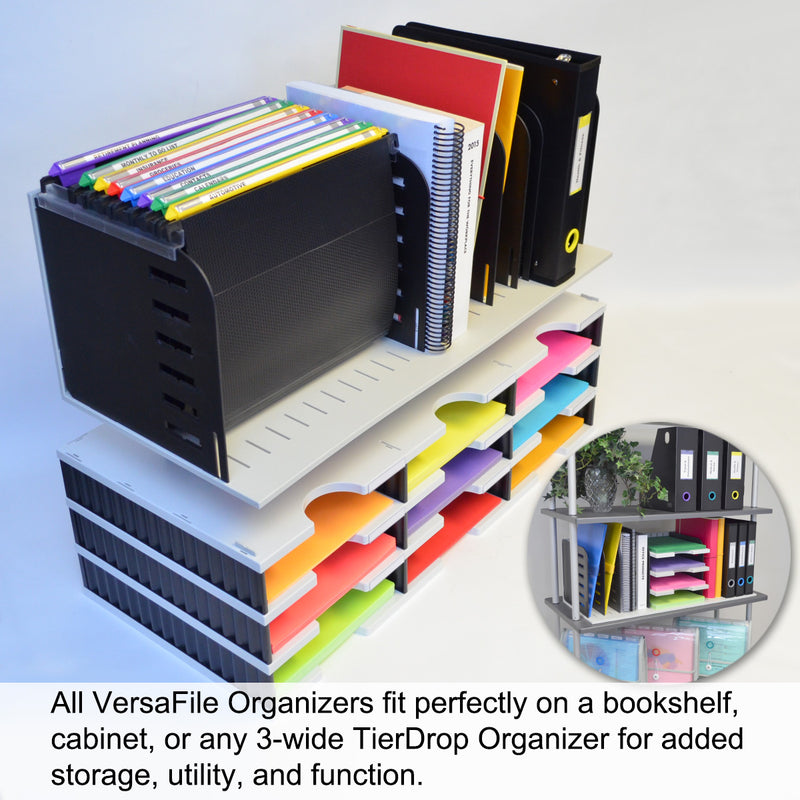 Ultimate Office VersaFile All-in-One Desktop Organizer Sorter for Fast and Easy Access to Forms, Books, Binders, and Hanging Files