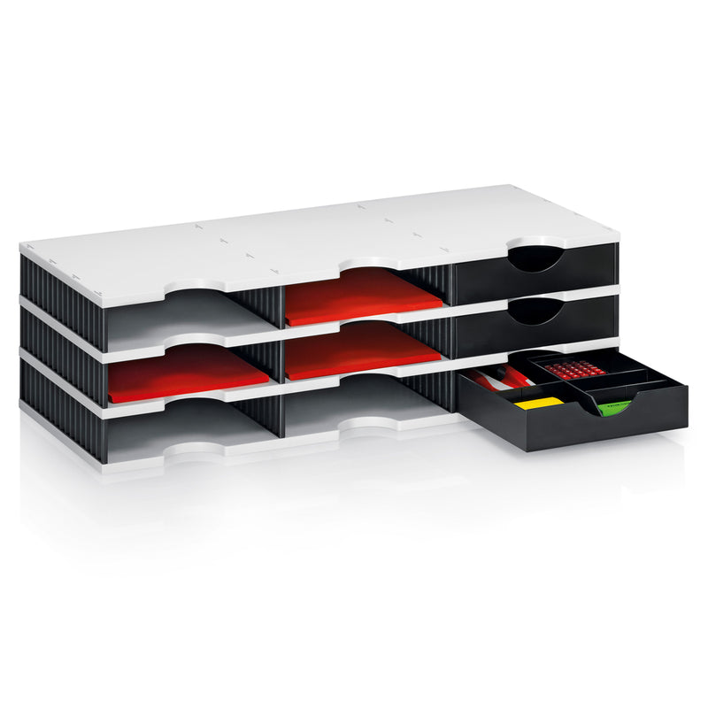 Ultimate Office TierDrop™ Supply Drawer WITH Adjustable Interior Drawer Divider Set. For Use With Any TierDrop Desktop, Literature, Forms, Mail or Classroom Sorters. NOT Compatible with TierDrop High-Wall or Tier Drop Crystal Clear Organizers