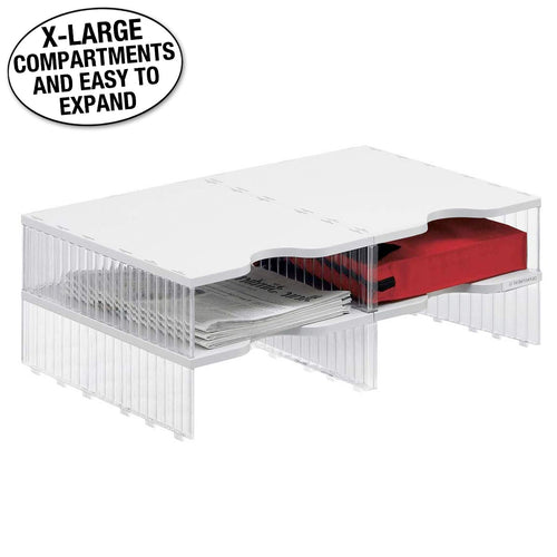 Ultimate Office 4-Compartment Crystal-Clear Mail Sorter Add-On (for Any 2-Wide EasyView Mail Sorter Unit)