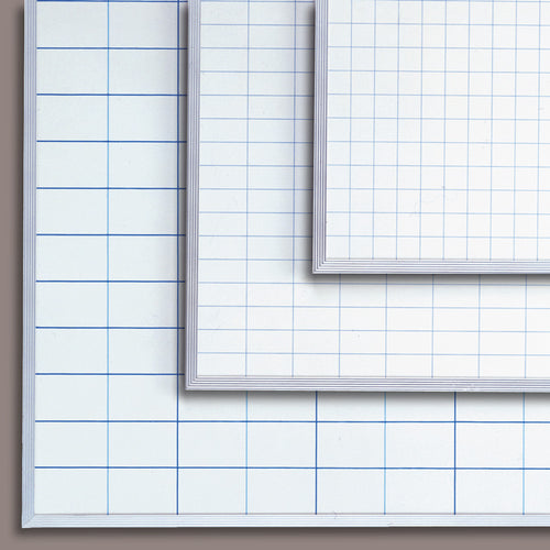 "36"" x 48"" Magnetic Porcelain Board with Grids"