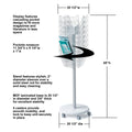 Ultimate Office Literature Display 24-Pocket Mobile Revolving Model with Crystal Clear Cascading Pockets
