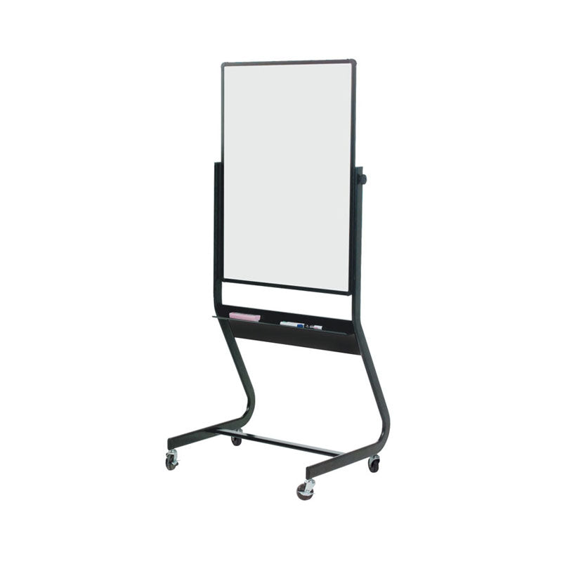 "40""h x 30""w Mobile Porcelain Steel Reversible Whiteboard"