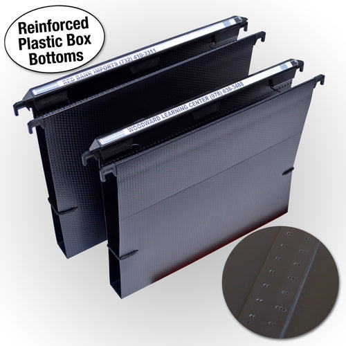 "Ultimate Office MagniFile® Extra-Capacity Hanging File Folders. 1"" Box-Bottom, Letter Size, Feature a Wrap-Around Bungee Security Cord and AN UNCONDITIONAL LIFETIME GUARANTEE! (Set of 2)"