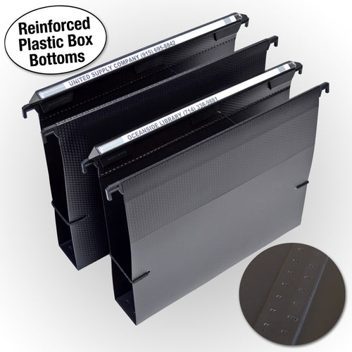 "Ultimate Office MagniFile® Extra-Capacity Hanging File Folders, 2"" Box-Bottom, Letter Size, Feature Wrap-Around Bungee Security Cord (set of 2)"
