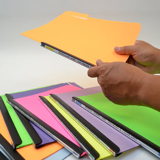 Ultimate Office MagniFile® Sliding Bars BIND AND INDEX Any Standard File Folder or Loose Pages Up to 65 Sheets. Secure Your Documents AND Find Files FAST! (Set of 10)