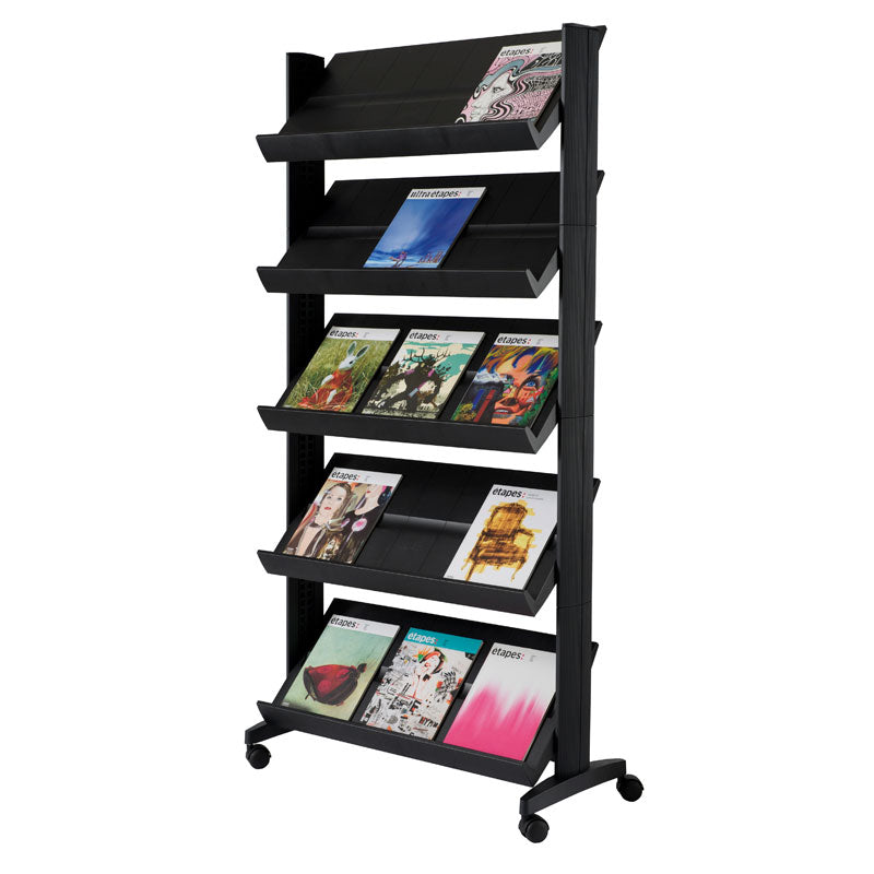 5-Shelf Mobile Literature Display