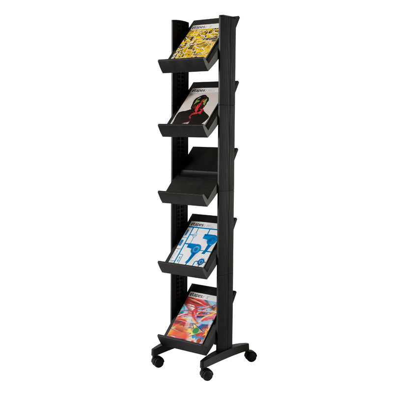 5-Shelf Mobile Literature Tower