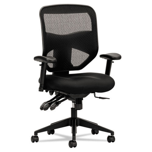 532 Mesh High-Back Task Chair, Black w/Black
