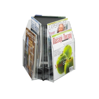 6 Magazine Tabletop Displays Clear