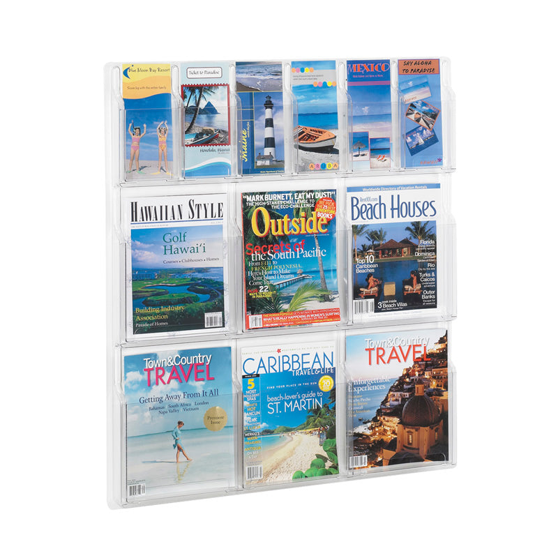 6 Pamphlet & 6 Magazine Display Clear