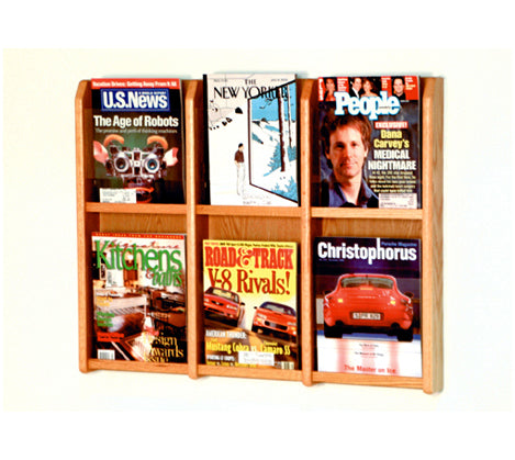 6 Pocket Acrylic U0026 Oak Wall Display