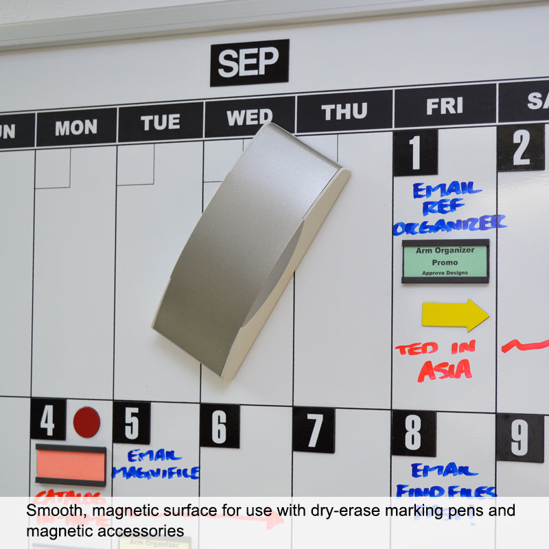 Ultimate Office Magnetic Dy-Erase Whiteboard Modular Monthly Planning Calendar (1 Each), with Optional Accessories Kit