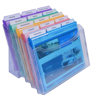 StationMate® 5-Compartment Inclined StepUp File Desktop Organizer Includes 18, 3rd-Cut PocketFile™ Project Files