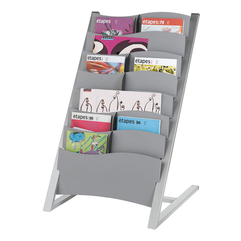 7-Compartment Floor Stand Literature Display