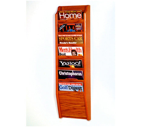 7 Pocket Wall Mount Magazine Rack