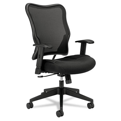 702 Mesh High-Back Work Chair, Black w/Black
