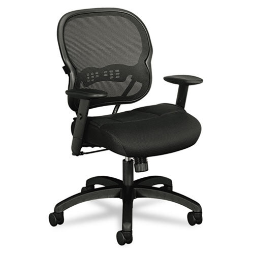 712 Mesh Mid-Back Work Chair, Black w/Black