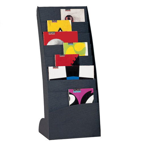 8-Compartment Curved Floor Stand Literature Display