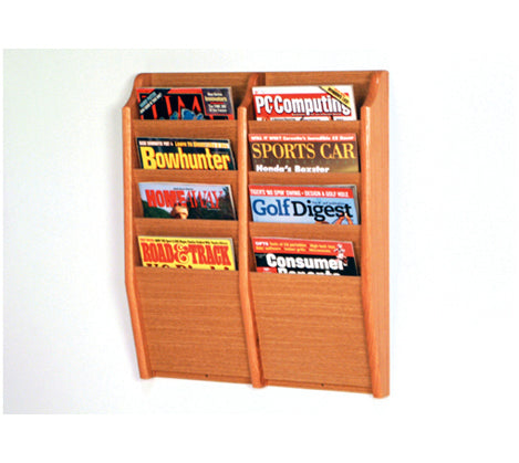 8 Pocket Wall Mount Magazine Rack