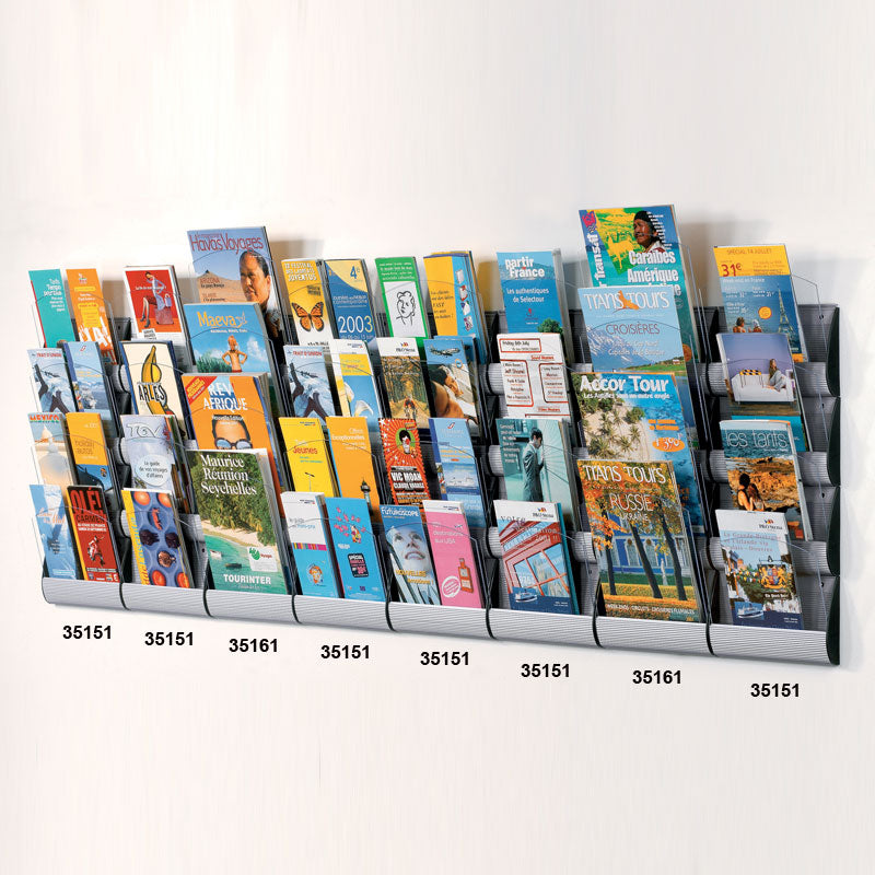 8-Pocket Wall Pamphlet Display