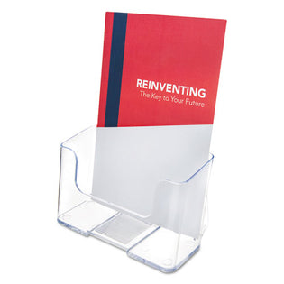 "DocuHolder Acrylic Display for Countertop or Wall-Mount, Booklet Size.  6 1/2""w x 3 3/4""d x 7 3/4""h."