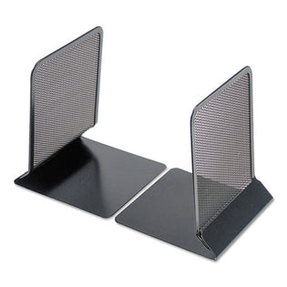 "Wire Mesh Bookends, 5 3/8"" X 6 3/4"", Black"