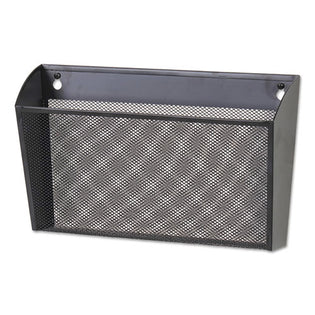 "Wire Mesh Wall File Single Pocket, 14 1/8"" X 3 3/8"" X 8 1/8"", Letter, Black"