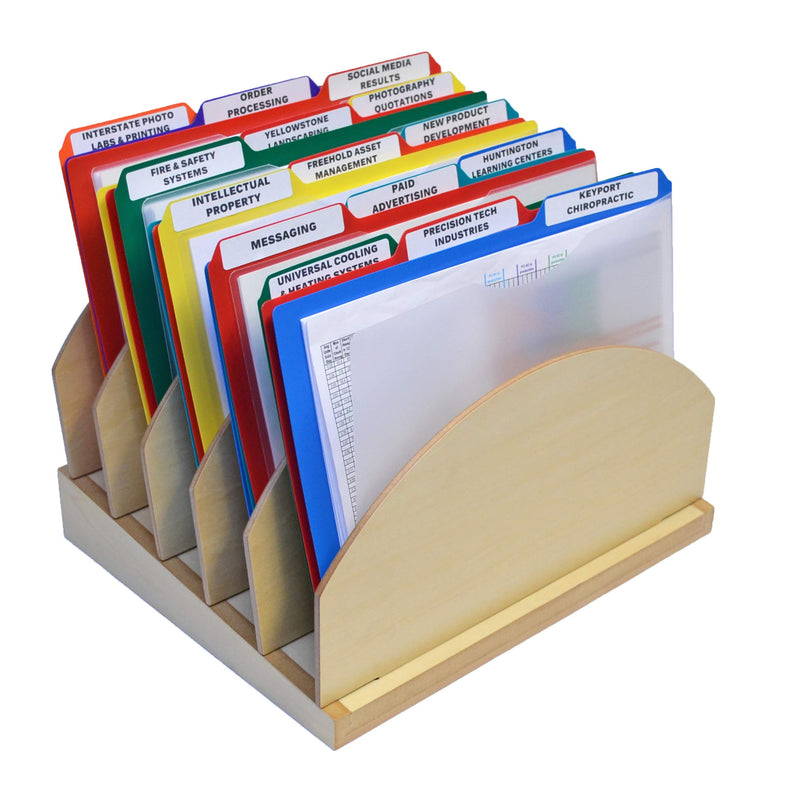 WoodWorx™ 5-Compartment StepUp File Includes 15, 3rd-Cut Project Files, Letter, Assorted