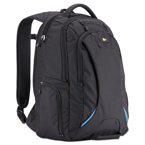 "Checkpoint Polyester Backpack w/Laptop Compartment.  Holds Laptops up to 15 1/2"", 13 3/8"" x 19 5/8"" x 9"", Black"