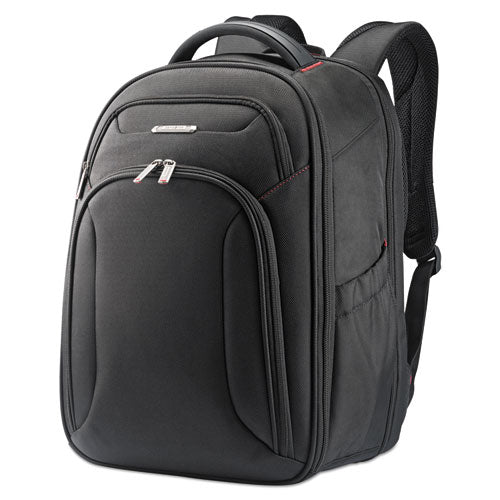 "Xenon 3 Ballistic Polyester Laptop Backpack holds Laptops up to 15 1/2"", 12"" x 17 1/2"" x 8"", Black"