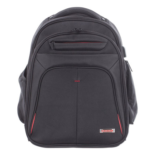 "Purpose 2-Section Business Backpack holds Laptops up to 15 1/2"", 17"" x 19"" x 8 1/2"", Black"