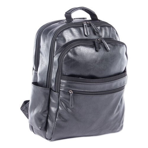 "Valais Backpack holds Laptops up to 15 1/2"", 15 1/2"" x 17"" x 6 1/2"", Black"